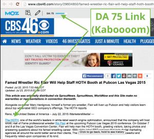 CBS Press Release Example