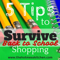 5 Tips to Survive Back to School Shopping