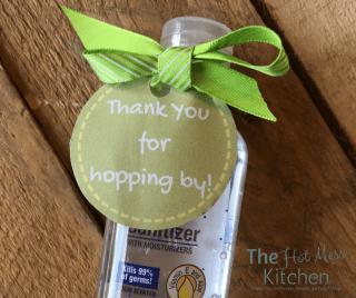 hand sanitizer thank you printable - facebook
