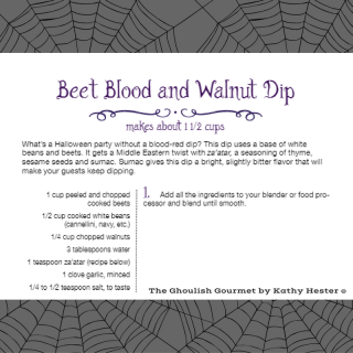 The Ghoulish Gourmet - Beat and Walnut Recipe