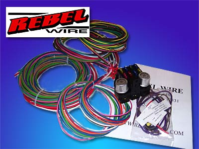 rebel wire 8 circuit wiring harness the hot rod company rh thehotrodcompany com rebel wiring harness diagram rebel wiring harness vw bugs