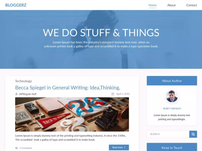 cool free wordpress blog themes