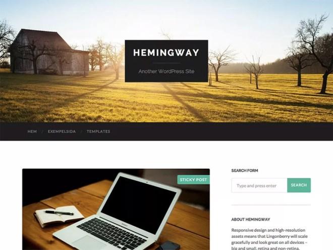 best simple wordpress blog themes