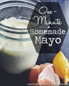 One-Minute Homemade Mayo