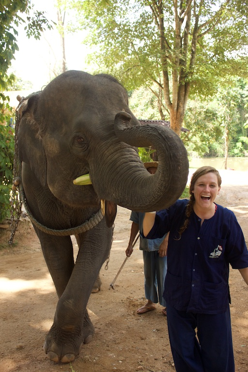 Kelli with Elephant