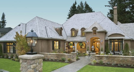 Country French House Plans   Euro Style Home Designs by THD Country French House Plans