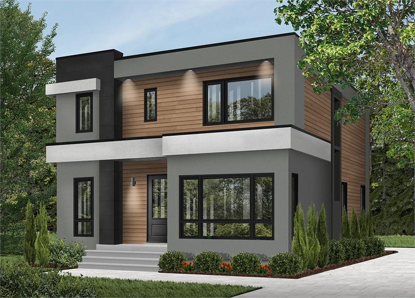 Modern Contemporary House Plan 7345: Essex 3