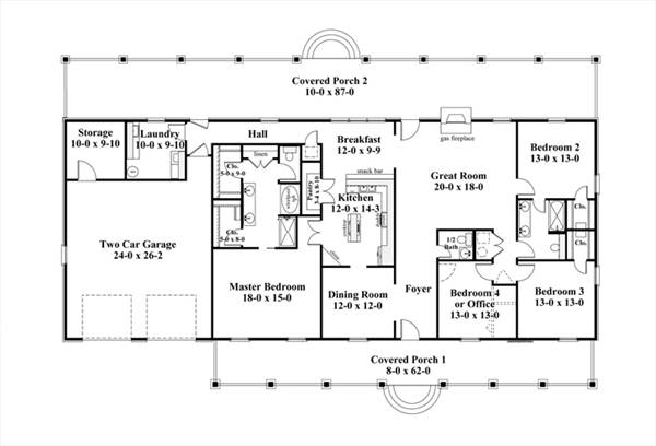 Persephone 8228 4 Bedrooms And 2 Baths The House Designers