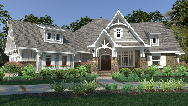 Lovely Cottage House Plan With 3 Bedrooms And A 3 Car Garage