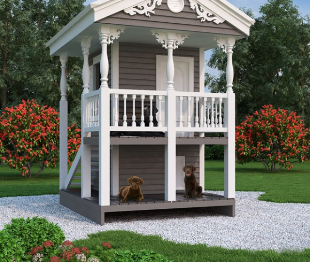 House Plan 9590 Luxury Doghouse Playhouse