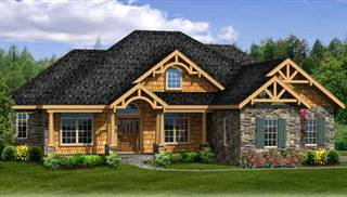 Luxury House Plans  Home   Kitchen Designs with Photos by THD image of STURBRIDGE II 3CAR   WALK OUT House Plan