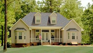 Country House Plans with Porches  Low French   English Home Plan image of LEWISBURG RANCH House Plan
