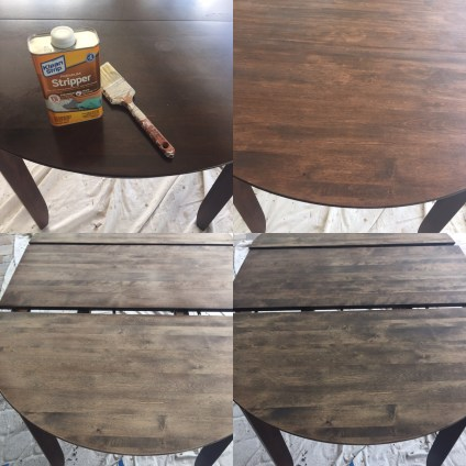 Refinishing a dark wood table
