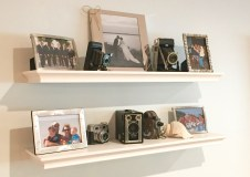 Vintage camera collection, and family photos