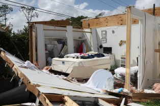 A destroyed mobile home is seen Sept. 11 after the passing of Hurricane Irma in Naples, Fla. (CNS photo/Stephen Yang, Reuters) See HURRICANE-IRMA-CARIBBEAN-AFTERMATH Sept. 11, 2017.