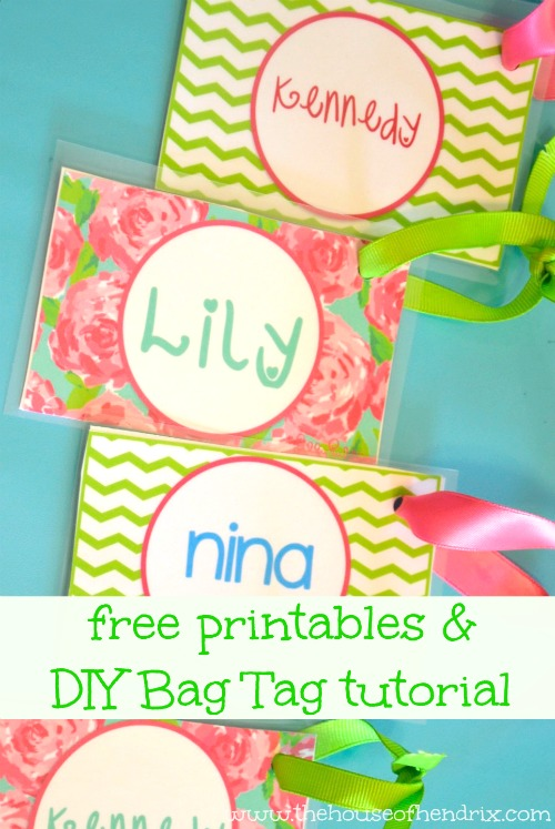 DIY Personalized Bag Tags and Printables for Lunch Box and Backpack