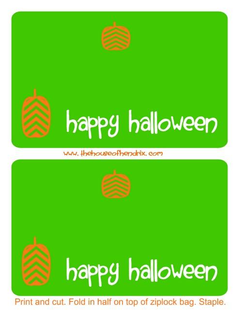 Halloween bag topper