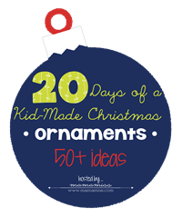 20 Days of Kid-Made Ornaments