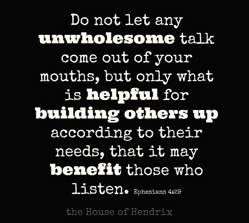 POST Every time we open our mouths, we have an opportunity. How we use it, is up to us.