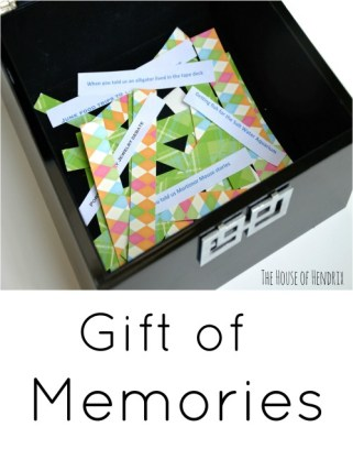 Perfect sentimental gift for the parent, grandparent, loved one. Fill a chest with memories and enjoy the experience of reminiscing together. Check out how to involve your kids.