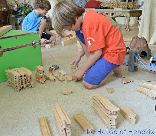 A fresh way to Play Trains. Practice sorting, grouping, counting, and organizing in this fun game which also builds teamwork. | The House of Hendrix