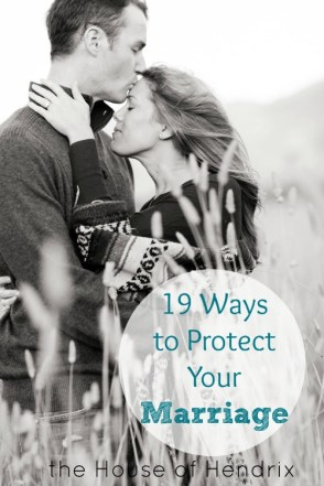 Great and funny story! In the busyness of life, we often forget that we need to actively and intentionally protect our marriages. Here are 19 Ways we can do that. | the House of Hendrix