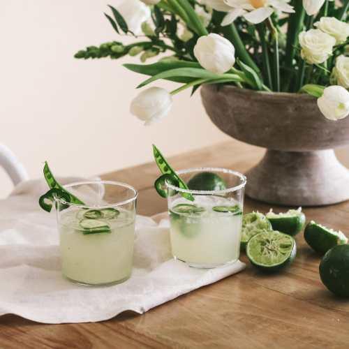 Spicy Springtime Margaritas