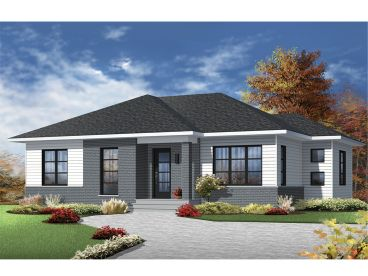 Contemporary House Plans   The House Plan Shop Contemporary Home  027H 0373