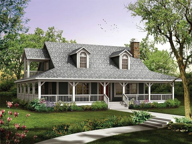 Plan 057H 0034   Find Unique House Plans  Home Plans and Floor Plans     2 Story Country Home  057H 0034