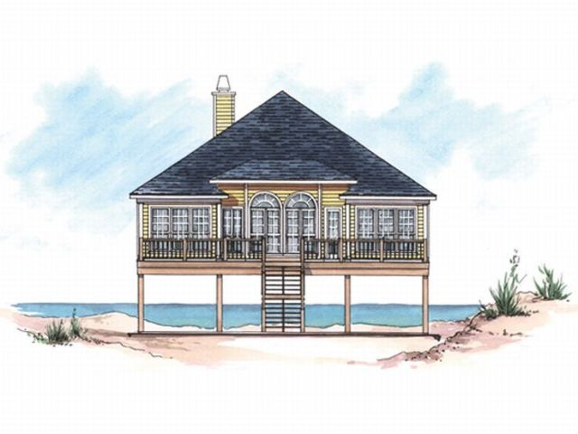 Plan 017H 0002   Find Unique House Plans  Home Plans and Floor Plans     Beach Bungalow Home  017H 0002