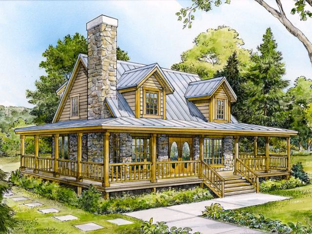 Country Home Plans   Two Story Country House Plan Design  008H 0013     Country House Plan  008H 0013