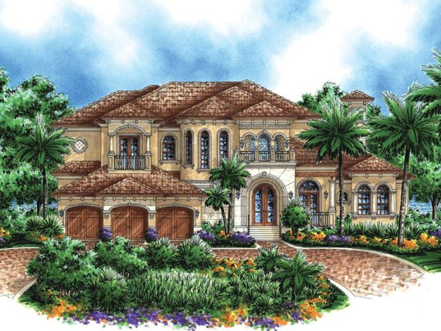 Plan 040H 0064   Find Unique House Plans  Home Plans and Floor Plans     Mediterranean House Plan  040H 0064
