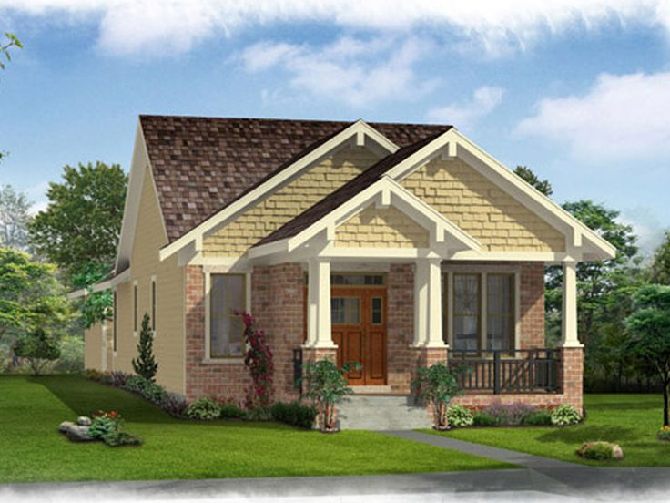 Bungalow House Plans   Affordable Empty Nester Bungalow Home Plan     Bungalow House Plan  046H 0116