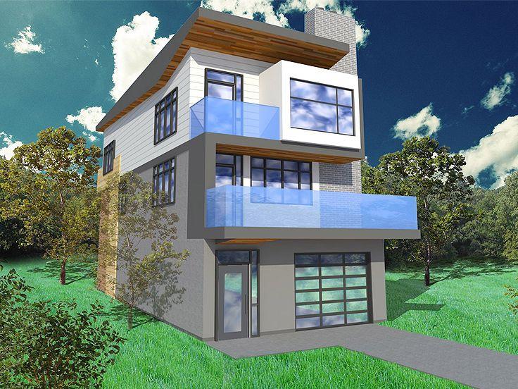 3 Story Narrow Lot House Plans
