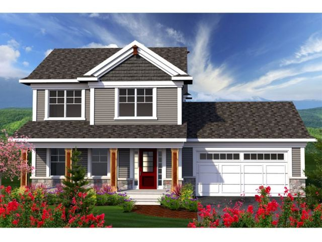 Two Story House Plans   Small Two Story Home Plan for Family Living     Two Story House Plan  020H 0341