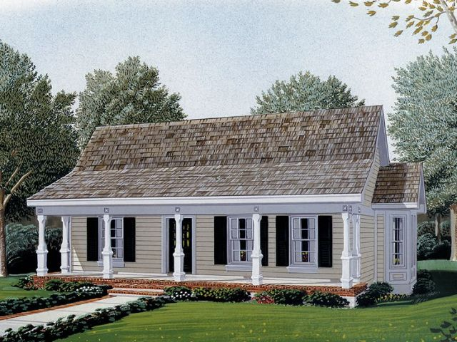 Country House Plans   The House Plan Shop Country Home Plan  054H 0019