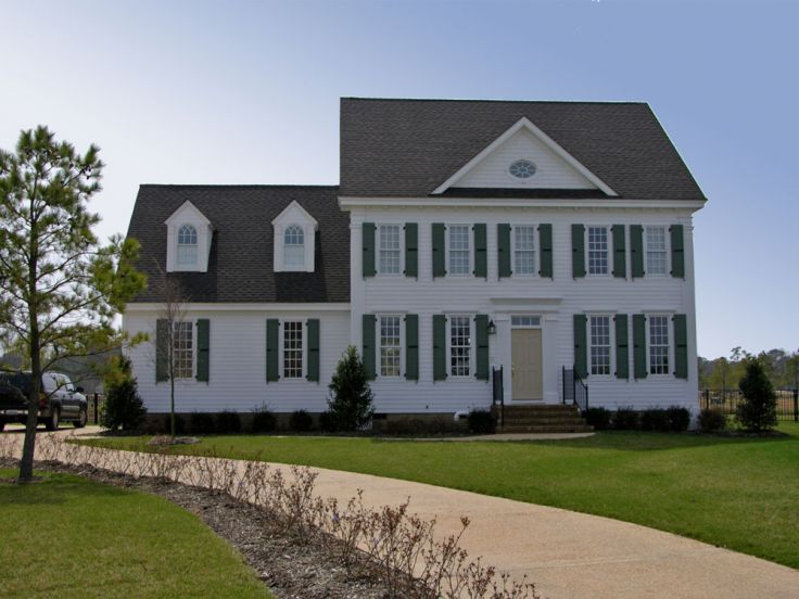 Colonial House Plans   The House Plan Shop About Colonial House Plans   Colonial Home Floor Plans