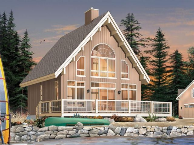 Plan 027H 0391   Find Unique House Plans  Home Plans and Floor Plans     Vacation Home  Rear  027H 0391