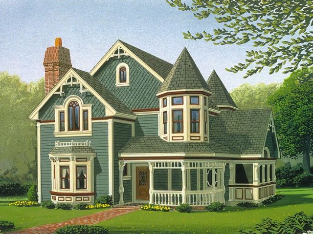 Victorian House Plans   The House Plan Shop Plan 054H 0008