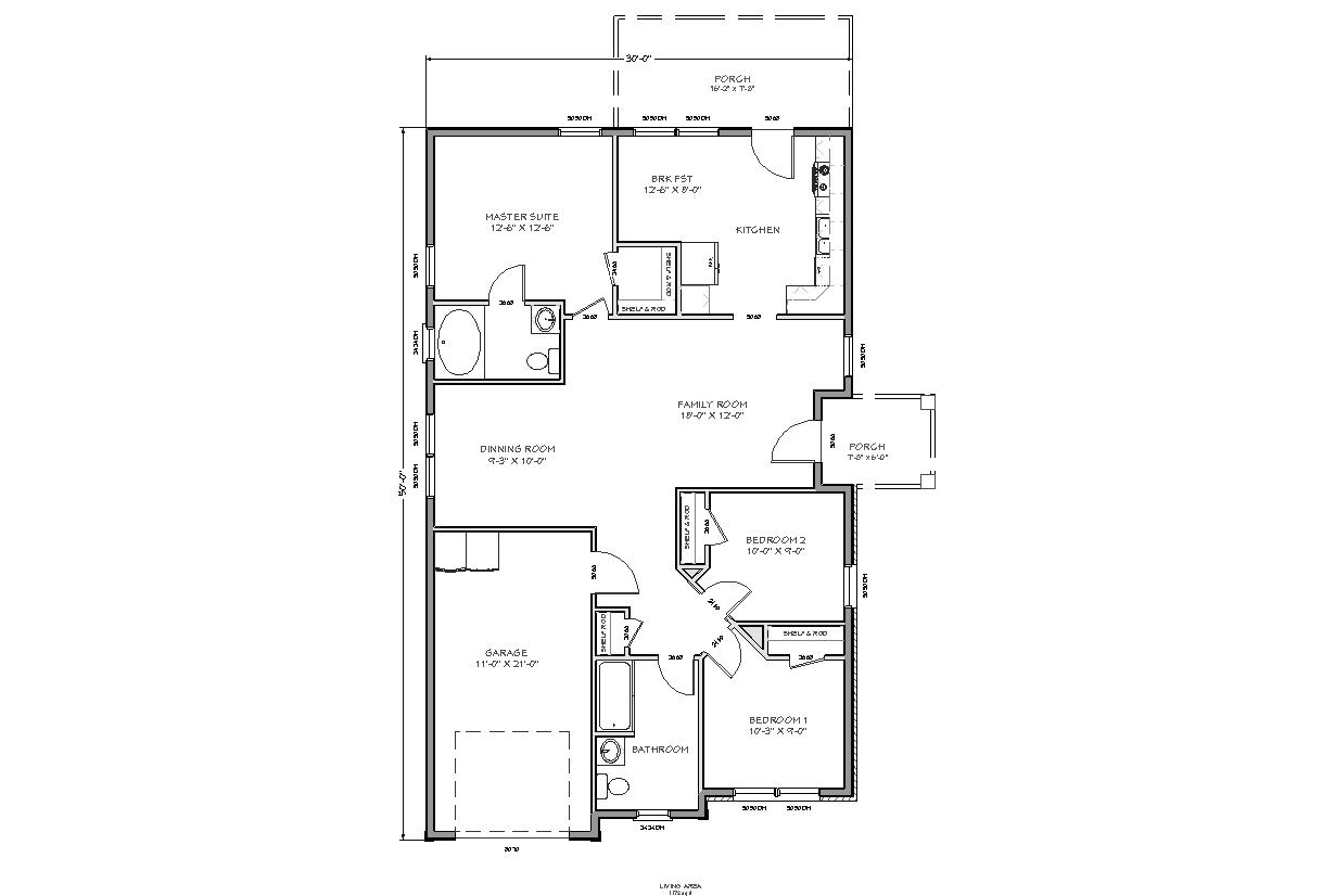 Simple house floor plans free woodworker magazine for Simple floor plan free