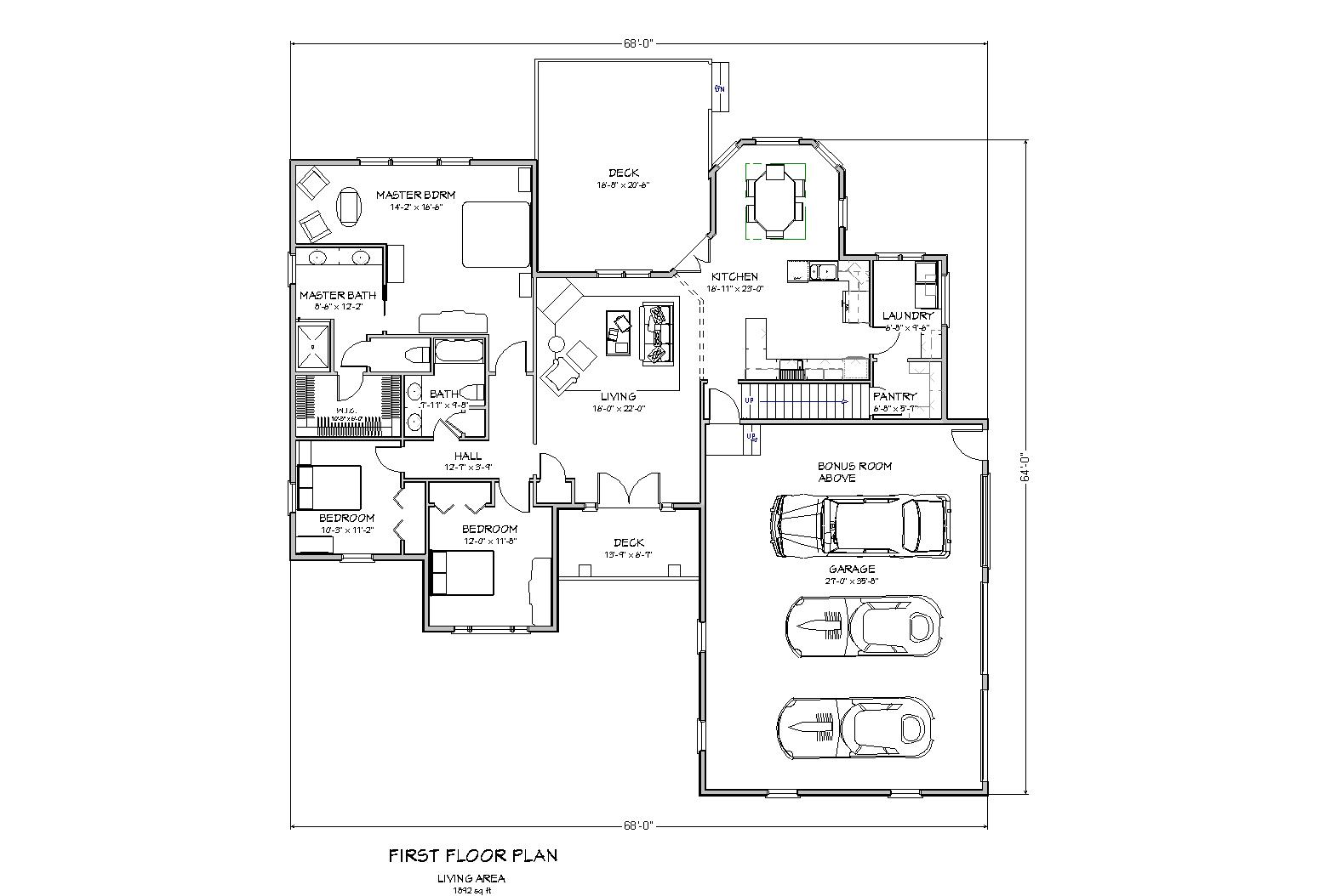 Ranch House Plan House Plan For Sloped Lot Traditional Ranch Plan