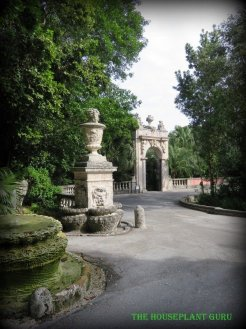 The gate to enter some of the gardens