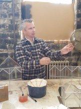 Derek demonstrating terrarium art