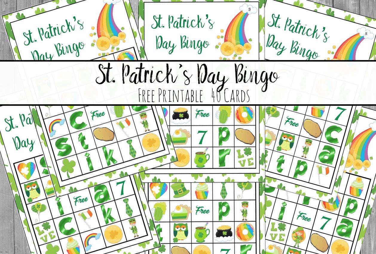 Free Printable St Patrick S Day Bingo 40 Cards