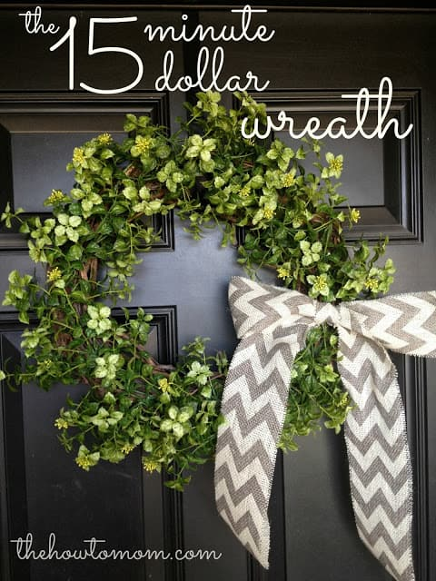 Easy Garland Wreath