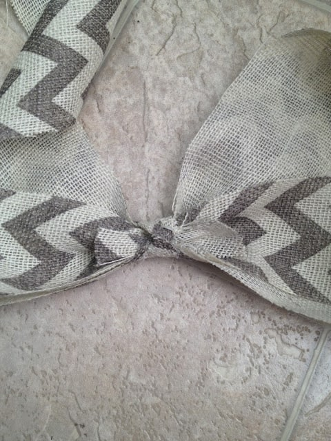 Burlap Bow for Farmhouse Wreath - Easy DIY
