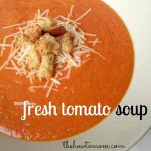 Fresh Tomato Soup With Garden Tomatoes