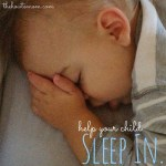 Help your child sleep in