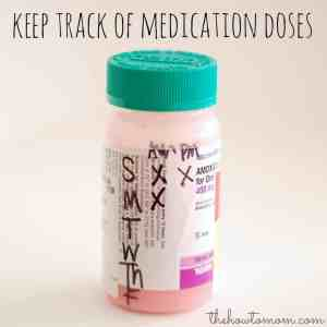 How to keep track of medication doses