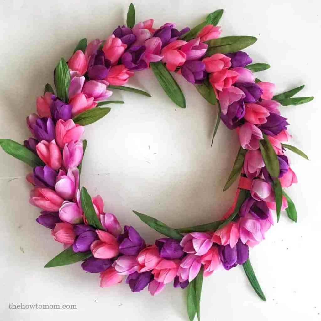 How to Make a Dollar Tree Tulip Wreath